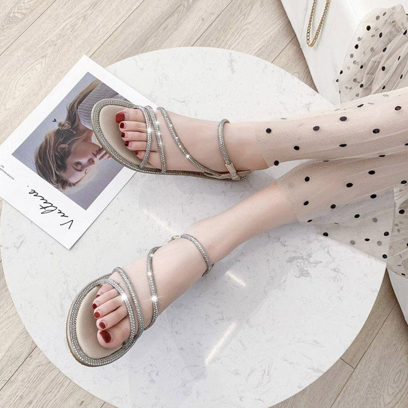 Buckle Open Toe Ankle Strap Hollow Casual Sandals