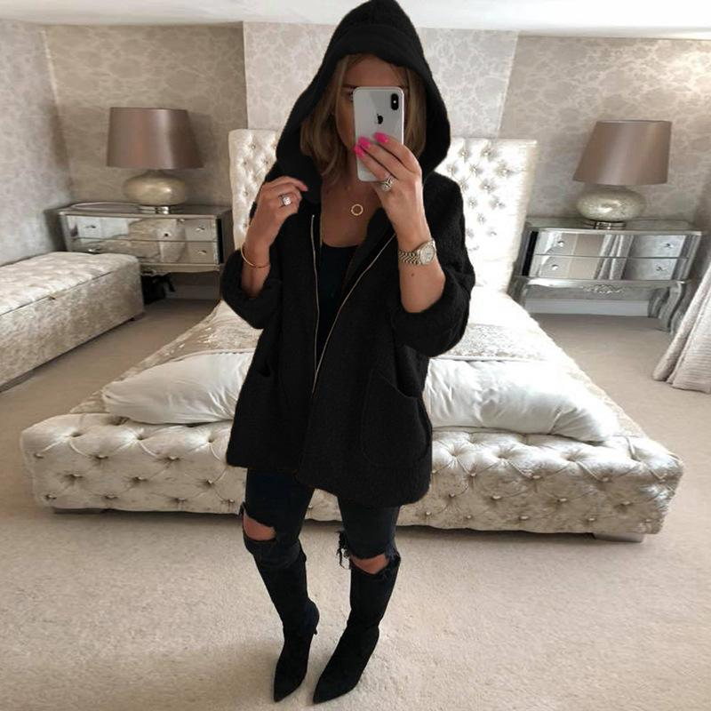 Women Fashion Hooded Coat
