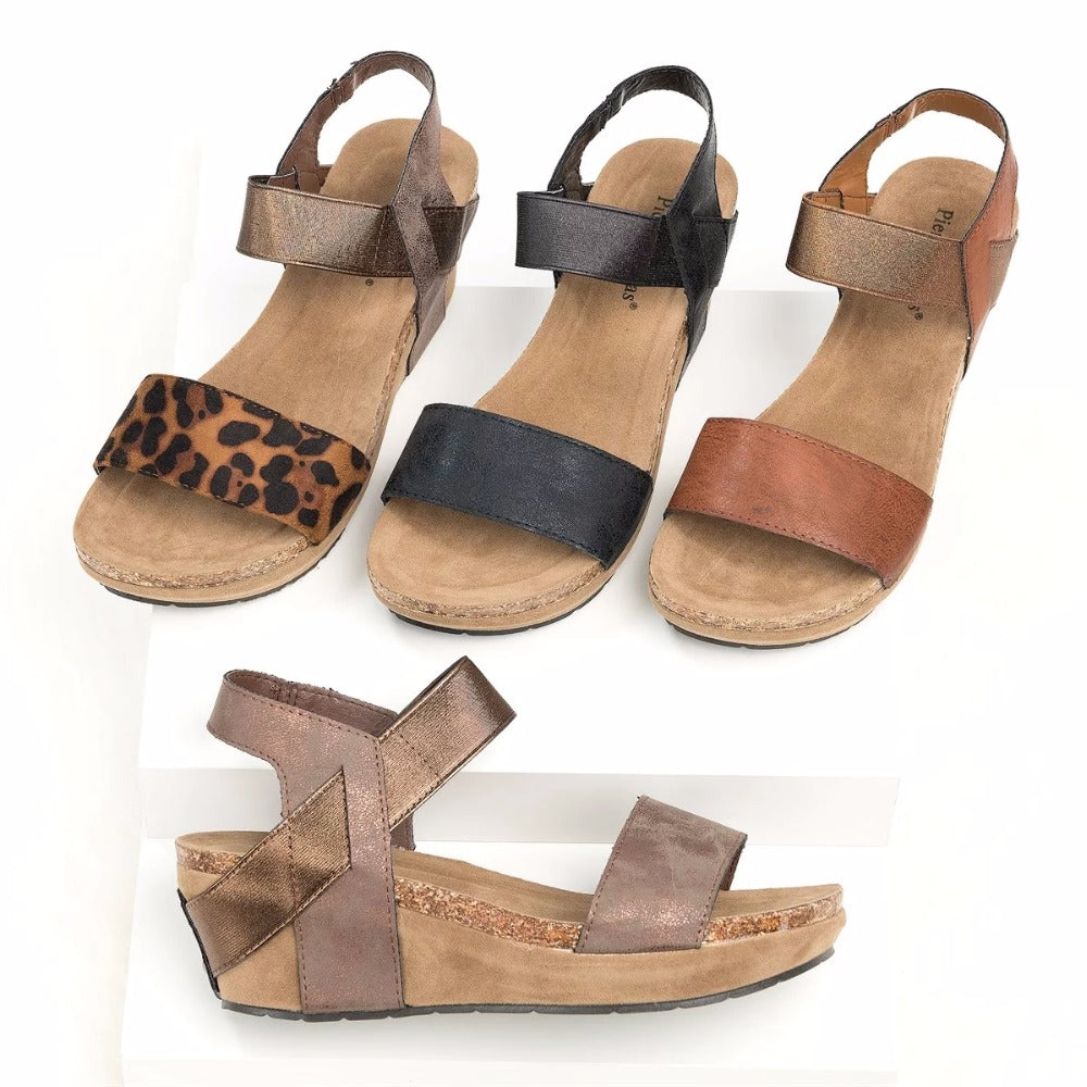 Dekorhea Med Wedge Comfortable Platform Women Sandals