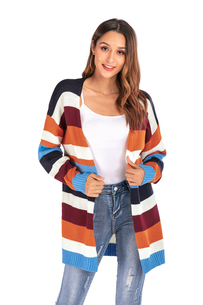 Striped Open-Front Cardigan, Created for Dekorhea