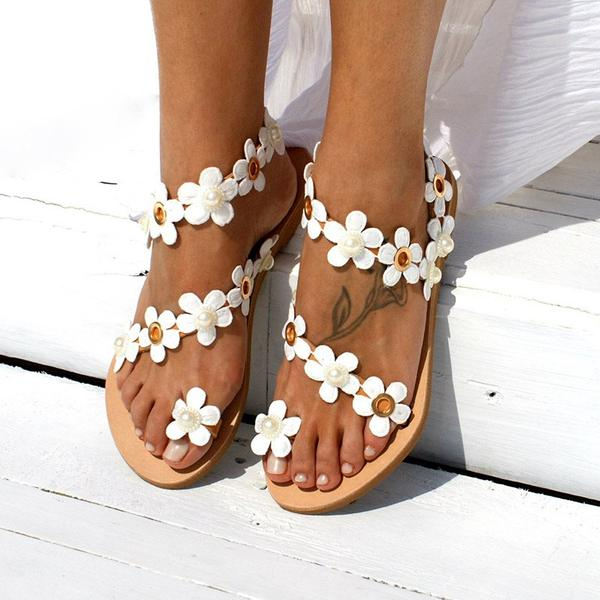 Bohemia Toe Ring Flat With Strappy Slip-On 3D Casual Sandals