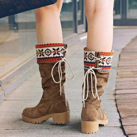 Dekorhea Autumn Folk-Custom Women Boots
