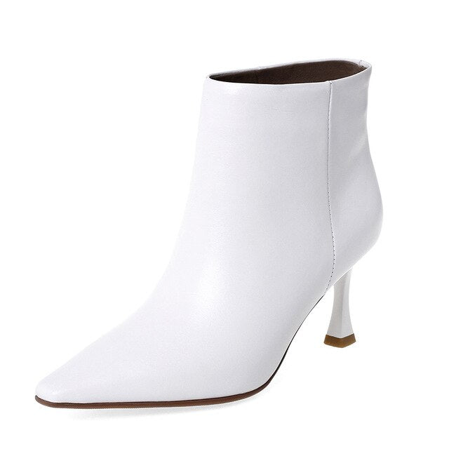 Women Genuine Leather Ankle Boots