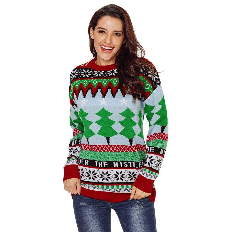 """Under the Mistletoe Patterned"" Funny Ugly Christmas Sweater"