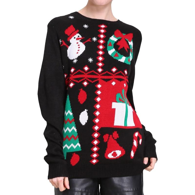 """Vintage Knitted Snowman"" Ugly Christmas Sweater"