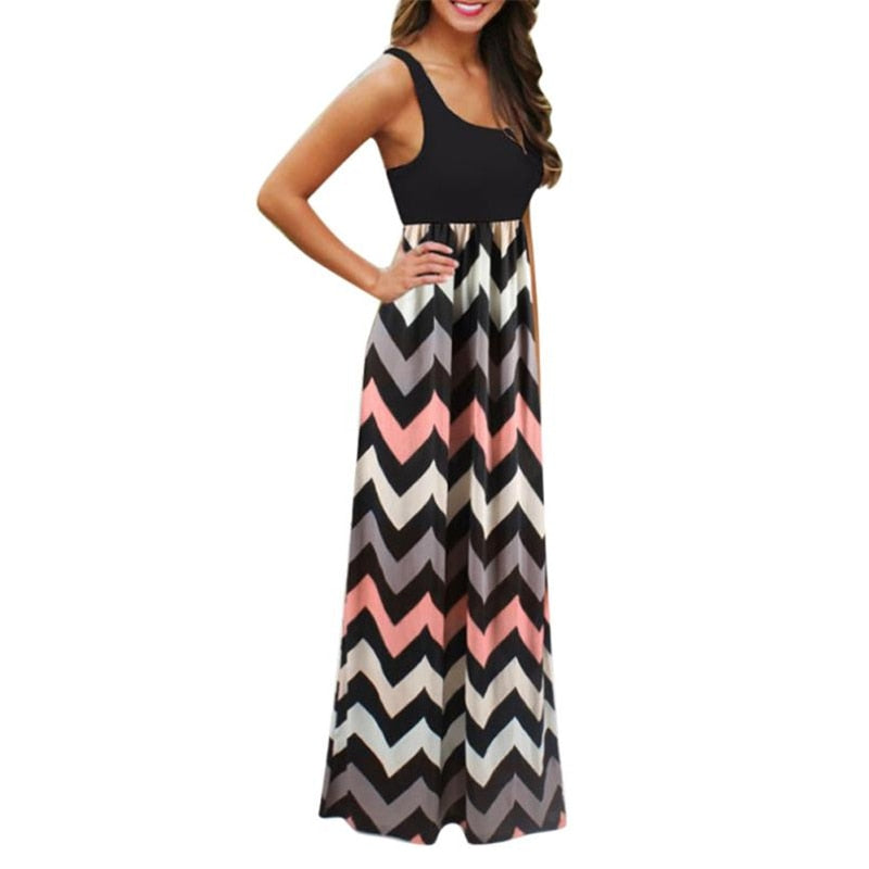 Dekorhea Long Boho Dress Lady Beach Summer Sundress Maxi Dress