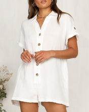 Load image into Gallery viewer, SOLID BUTTON DESIGN SHORT SLEEVE ROMPER