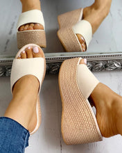 Load image into Gallery viewer, SUMMER PLATFORM ESPADRILLE WEDGE SANDALS