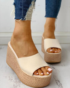 SUMMER PLATFORM ESPADRILLE WEDGE SANDALS