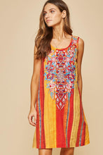 Load image into Gallery viewer, MULITICOLOREED, SLEEVELESS, EMBROIDERED DRESS