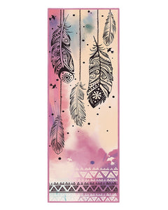 LEAF PRINT PORTABLE SOFT FITNESS YOGA MAT