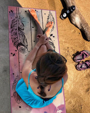 Load image into Gallery viewer, LEAF PRINT PORTABLE SOFT FITNESS YOGA MAT