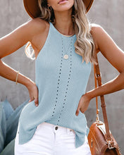Load image into Gallery viewer, SLEEVELESS HOLLOW OUT SOLID BLOUSE