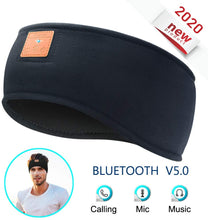 Load image into Gallery viewer, WIRELESS BLUETOOTH HEADSET HEADBAND / TURBAN
