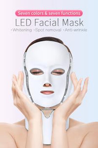 7 COLORS LED FACE REJUVENATION MASK FOR FACIAL AND NECK