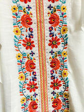 Load image into Gallery viewer, WHITE GORGEOUS EMBROIDERED COLD SHOULDER TOP