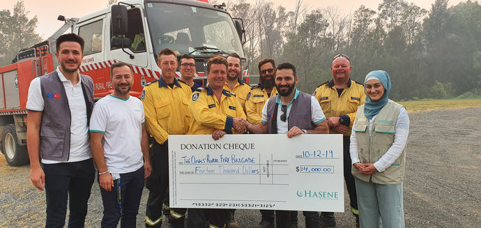 Hasene stands with the RFS during the bushfires!