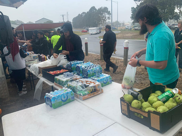 We provided fresh food relief to bushfire victims