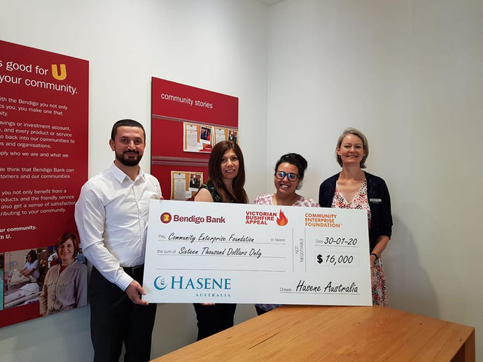 Hasene Donates Towards Victoria Bushfire Relief