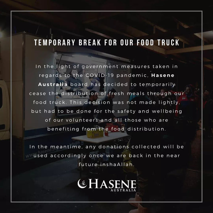 Temporary break for our food truck