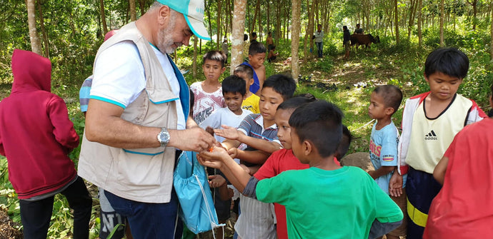 Our volunteers helping the needy in the Philippines