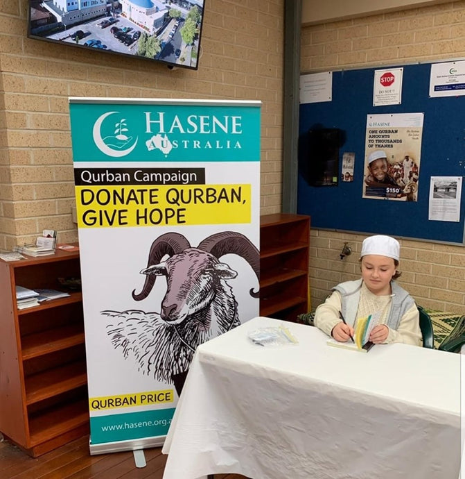 Our youngest volunteers helping the Qurban campaign