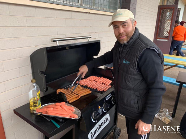 Sausage sizzle for Qurban