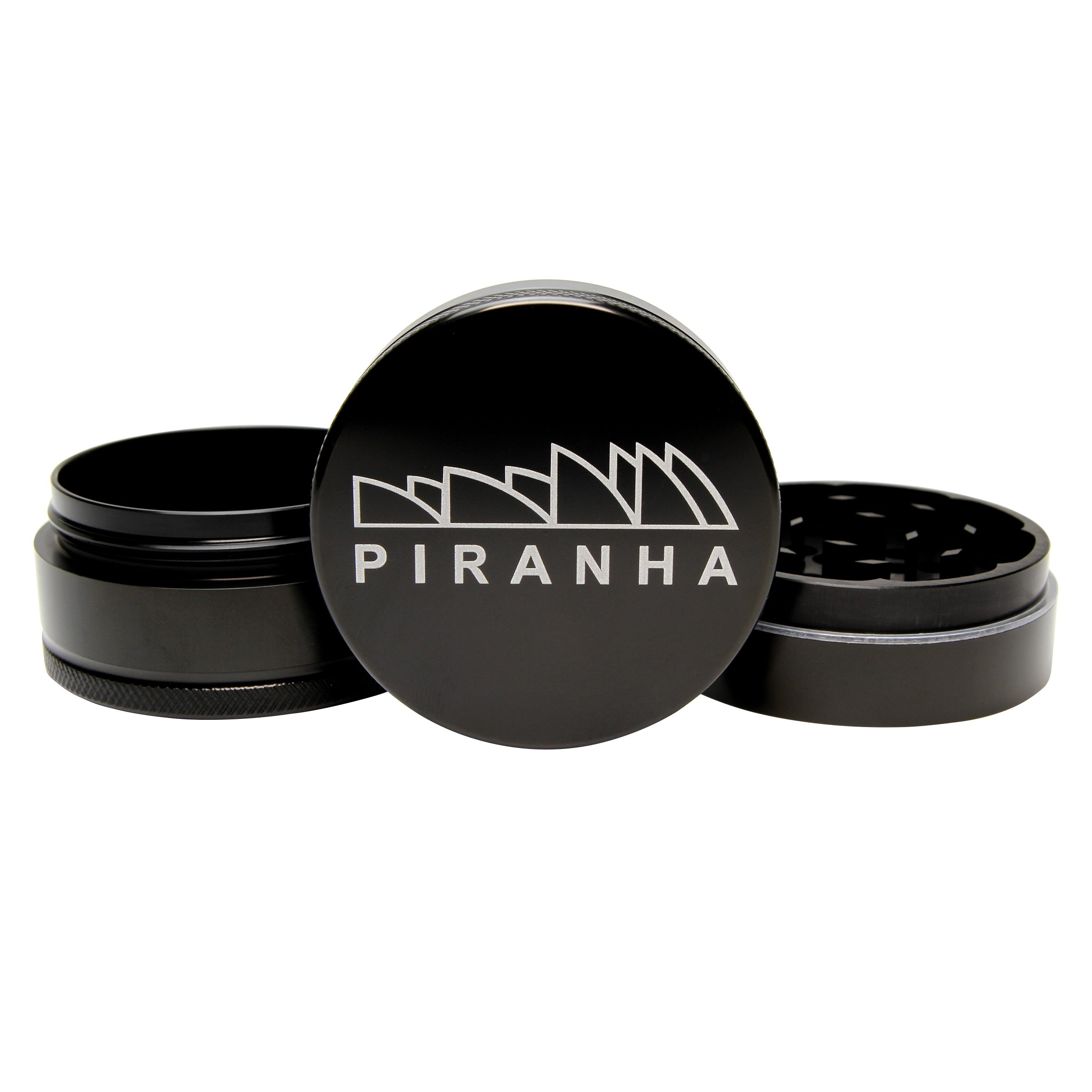 Piranha 3-Piece Grinder With Storage