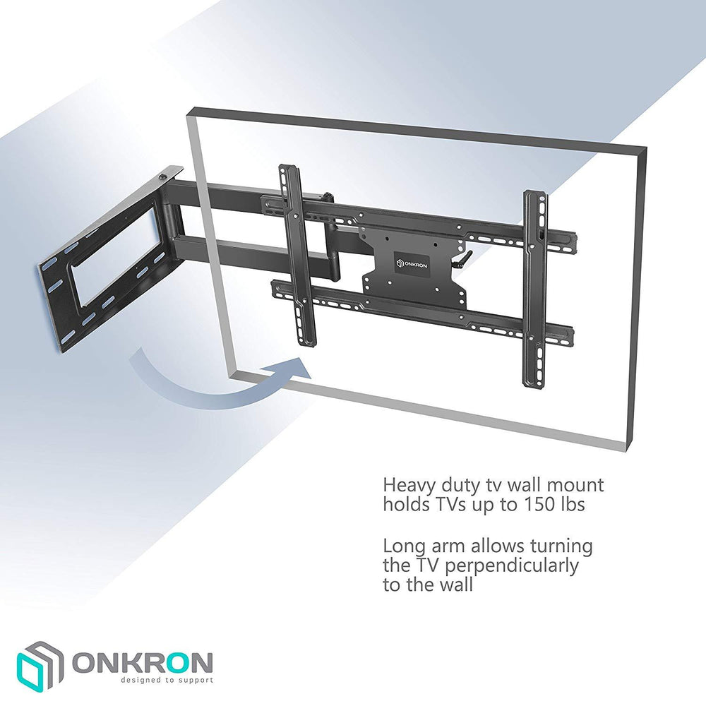 "ONKRON TV Wall Mount Bracket Full Motion Articulating Arm for 40"" - 60 Inch LED LCD Plasma Flat Screen TV M7L"
