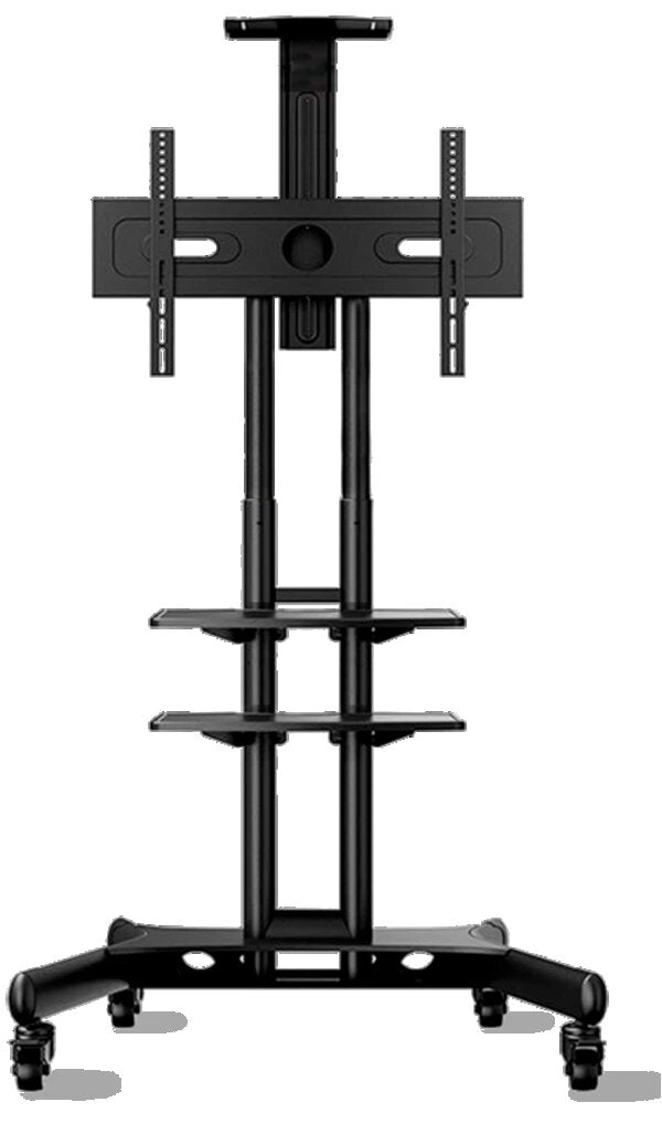 "Onkron Mobile TV Cart TV Stand w/Mount for Most 40"" to 70"" Flat Screens up to 100 lbs, TS1552 Black"