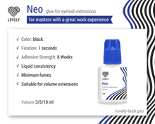"Load image into Gallery viewer, Black Adhesive Lovely ""Neo"" 10 ml"