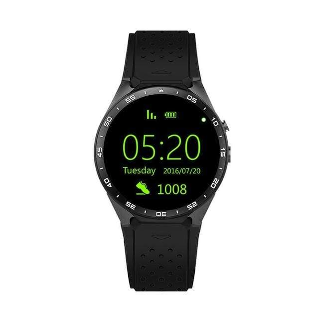 All Lcd Android Smart Watch Kw88 - Black - Android