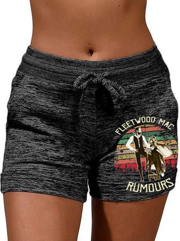 Fleetwood Mac Rumours Vintage Tie Shorts