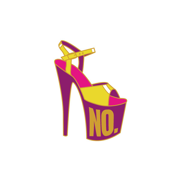 NO HIGH HEEL ENAMEL PIN