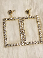 Load image into Gallery viewer, My Rhinestone Frame Earrings