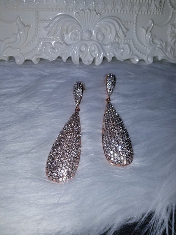 Amara Long Teardrop Earrings