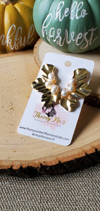 Trinity Petal & Pearl Earrings