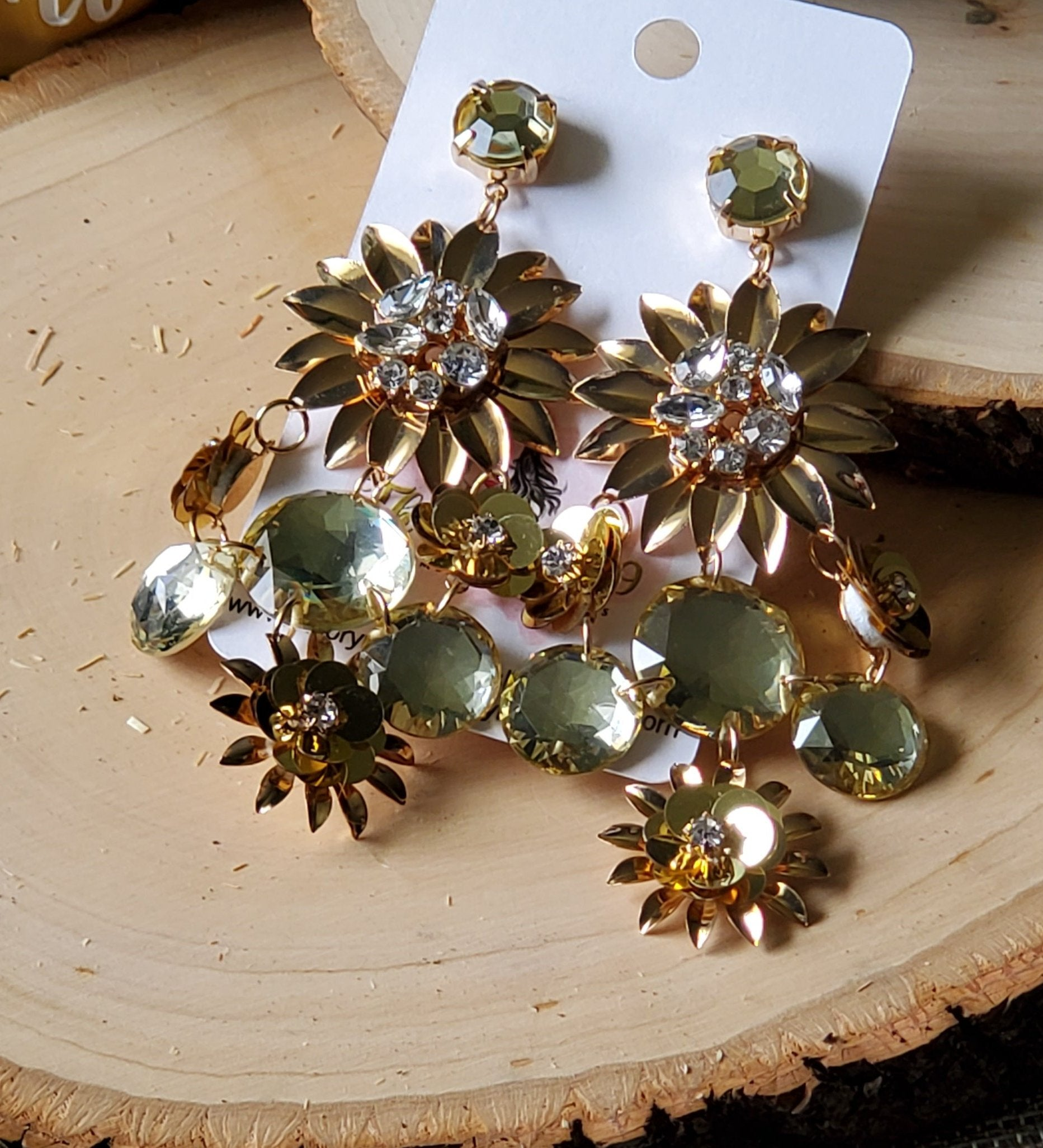 Pam Gold Floral Earrings