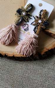 Lindsey Beaded Tassel Earrings