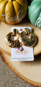 Keke Gold Textured Clip-On Earrings