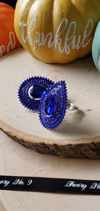 Faith Royal Blue Teardrop Clip-On Earrings