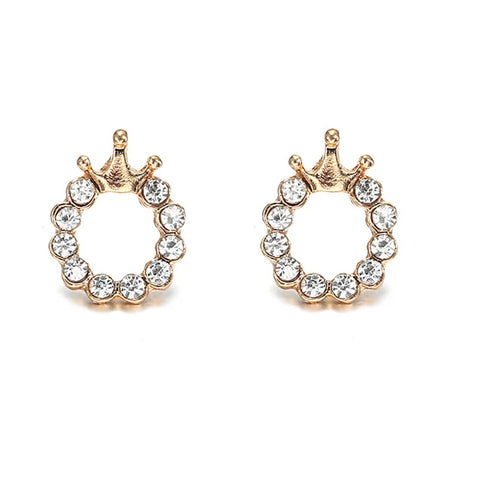 Tiara & Bow-Tie Crystal Earring Affair