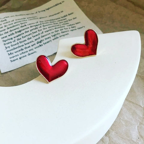 Cinnamon Heart Earrings