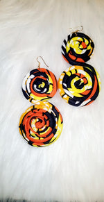 Load image into Gallery viewer, African Swirl Earrings