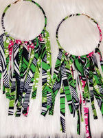 Load image into Gallery viewer, African Tassels Hoops