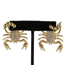 Scorpion Earrings with Dangling Tail
