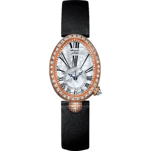 Reine de Naples Automatic 18K Rose Gold Diamond Mother of Pearl Dial Women's Watch