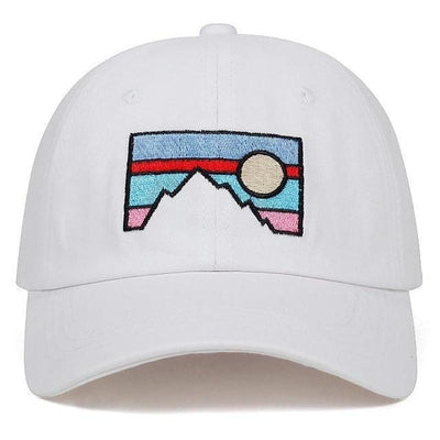 2018 new Men's Baseball cap dusk sunset embroidery cotton hat Fashion dad hat Spring and autumn cotton golf cap hats Streetwear Clothing Raikago
