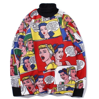 3D Print Cartoon Doodle Sweatshirts Streetwear Clothing Raikago