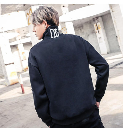 Aelfric Eden Fleece Hoodies Sweatshirts Men Hip Hop Letter Print Turtleneck Pullovers Street Wear 2018 Winter Warm Hoodie KJ224 Streetwear Clothing Raikago